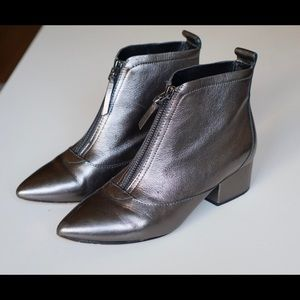 French Connection Robery Metallic Booties